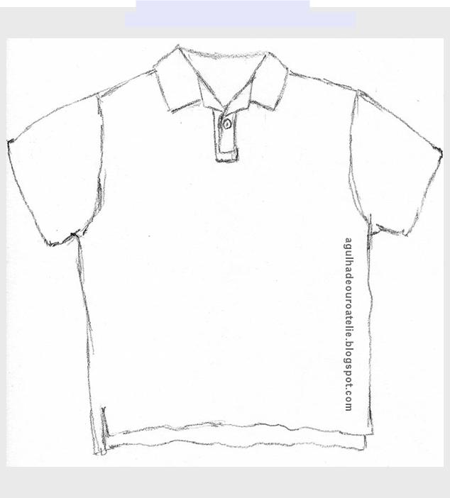 dae19161c574c ✂Construção da camisa pólo passo 1✂ - Agulha de Ouro Ateliê