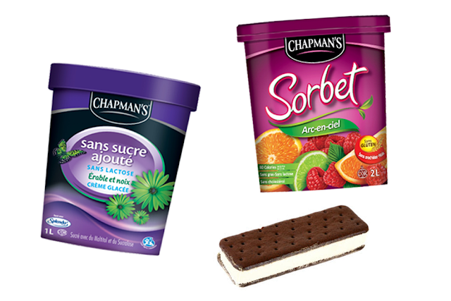Chapman's crème glacée sans lactose