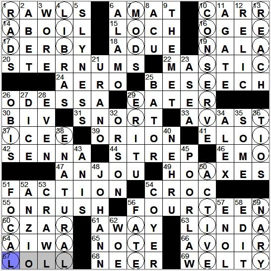Dating service datum crossword clue