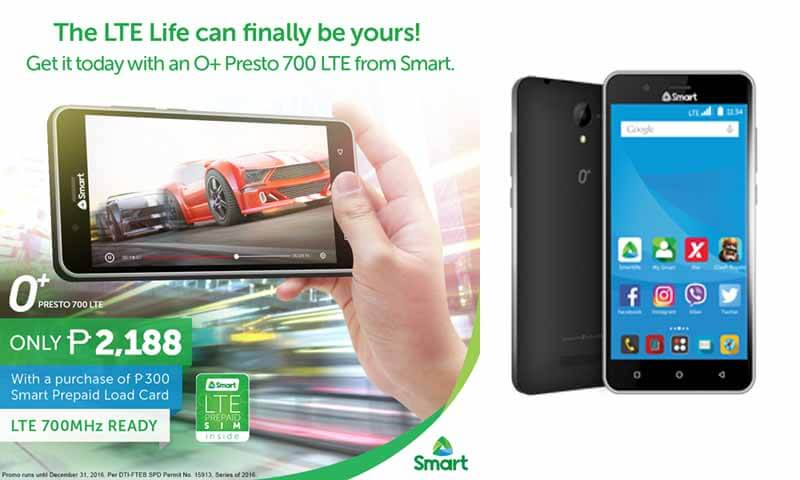 O+ and Smart offers Presto 700 LTE for Only 2,188 Pesos