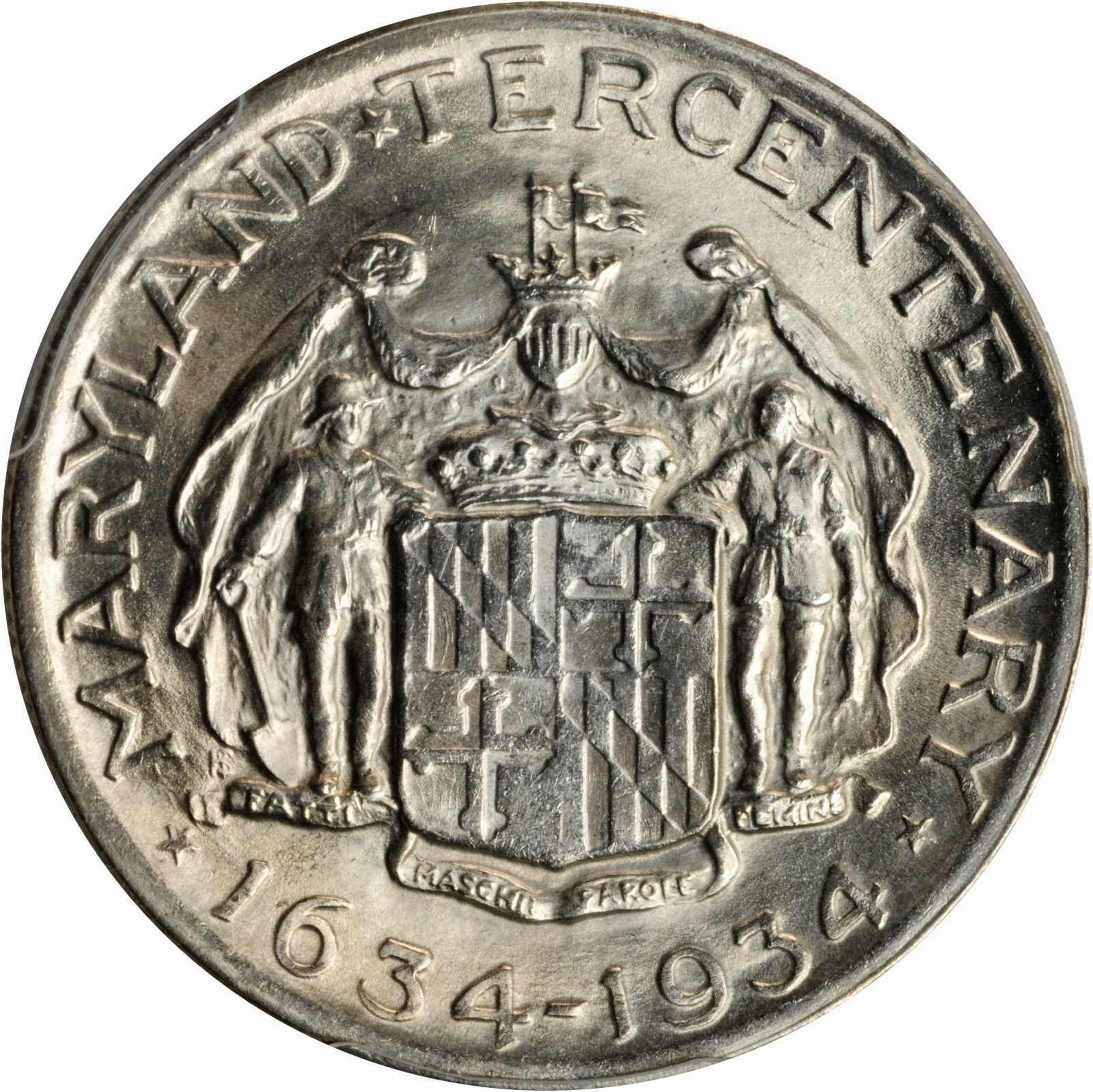 Maryland Tercentenary Silver Commemorative Half Dollar