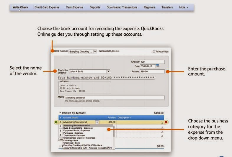 QuickBooks Online Entering Your Expenses