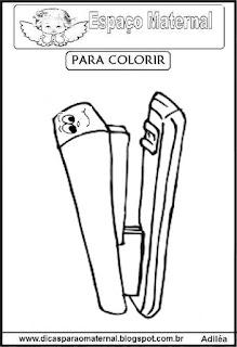 Desenho de grampeador para colorir