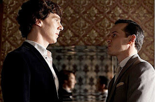 Benedict Cumberbatch and Andrew Scott in The Reichenbach Fall