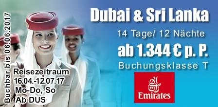 Kombireise Dubai mit Sri Lanka Urlaub