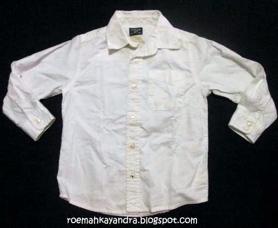 Roemah Kayandra: Kemeja Oshkosh putih panjang