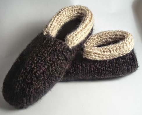 pantufas e sapatilhas de crochê ou tricô para o dia dos pais