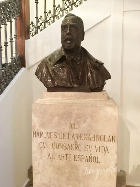 Busto de don Benigno en el Museo del Romanticismo