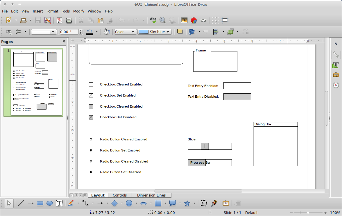 how to draw gui on class diagram