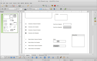 Menggambar Diagram User Interface Design LibreOffice Draw
