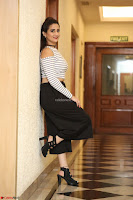 Manjusha in sleevelss crop top and black skirt at Darshakudu pre release ~  Exclusive Celebrities Galleries 042.JPG