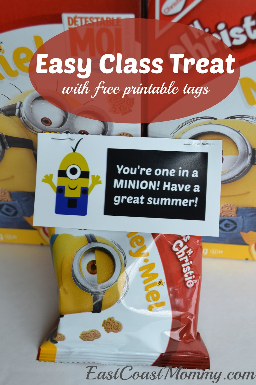 image regarding You Re One in a Minion Printable referred to as East Coastline Mommy: Cl Snacks Minion Cookies with totally free