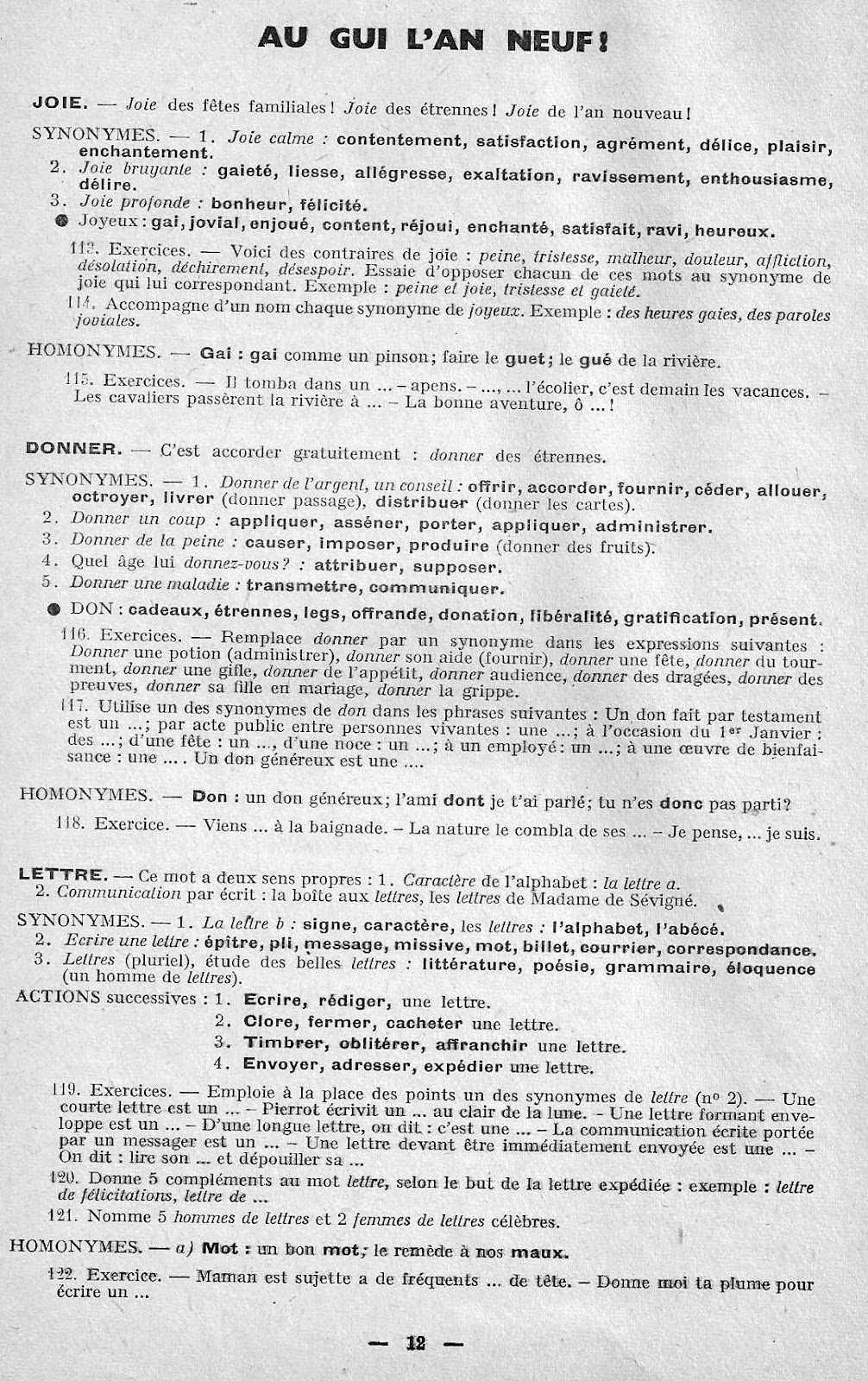 Manuels anciens: J. Anscombre, Synonymes et Homonymes