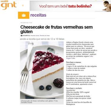 Receitas GNT - Receitas cheesecake de frutas vermelhas sem grútem