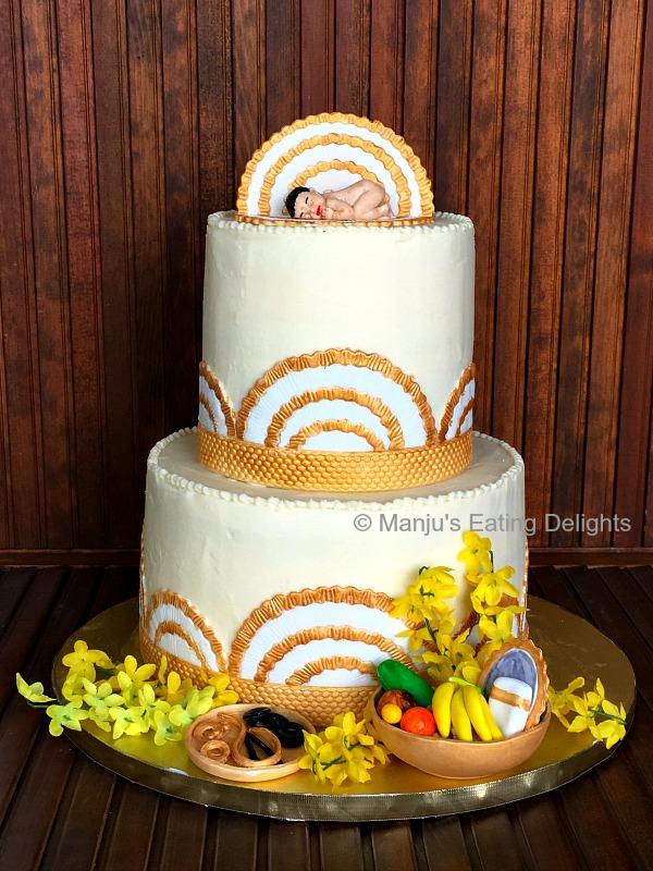 Manju S Eating Delights Vishu Themed Cake Baby S Naming Ceremony