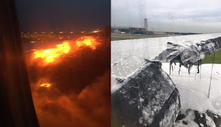 singapore airlines plane fire