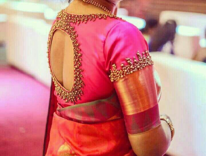 50+ Trendy Saree Blouse Sleeve Styles to try this wedding season | Bling Sparkle