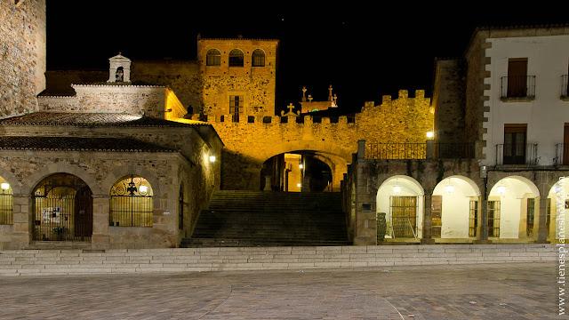 Plaza Mayor Cáceres Noche