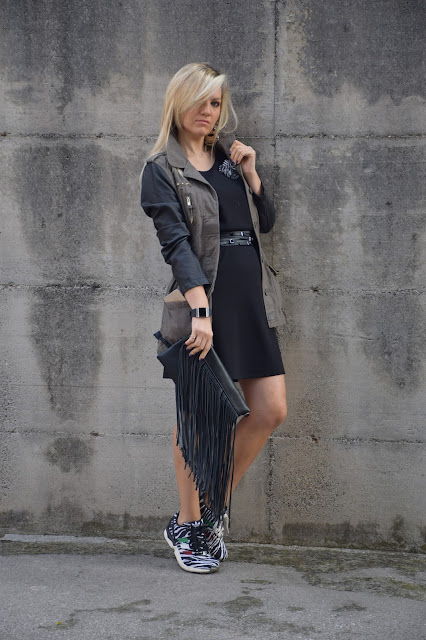 outfit sneakers come abbinare le sneakers abbinamenti sneakers sneakers e gonna sneakers e vestito outfit ottobre 2016 mariafelicia magno fashion blogger colorblock by felym fashion blog italiani fashion blogger italiane web influencer italiane