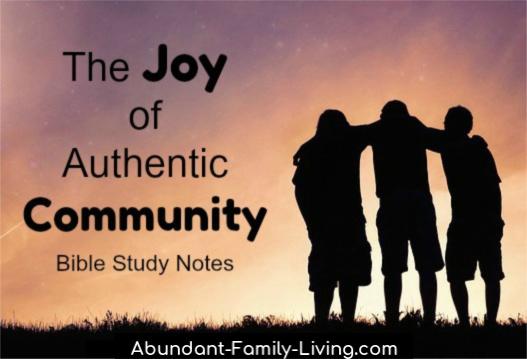 The Joy of Authentic Community