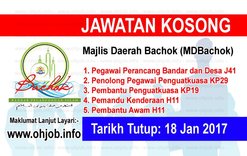 Jawatan Kerja Kosong Majlis Daerah Bachok (MDBachok) logo www.ohjob.info januari 2017