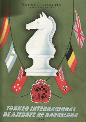 Portada del libro Torneo Internacional de Ajedrez de Barcelona 1946 de Rafael Lloréns