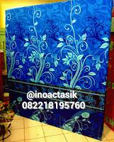 Kasur inoac motif bunga biru donker inoactasik