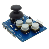 Arduino thumbstick & key input shield AL-IMMR