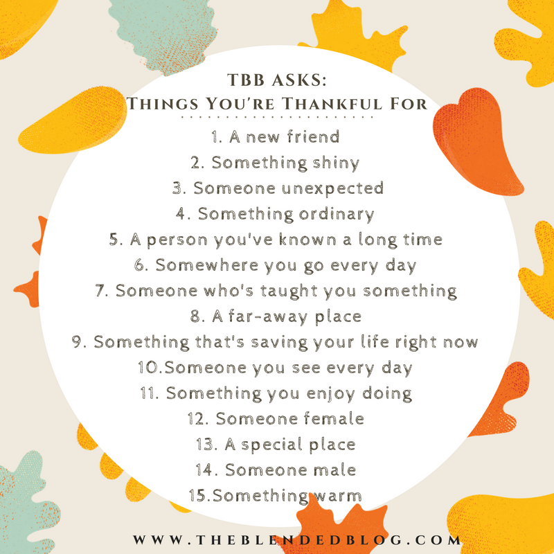 TBB Things you are thankful for