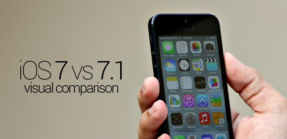 Apple iOS 7.1 VS. iOS 7.0 User Interface Comparison