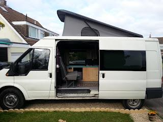 tales of a sandled wanderer mk6 ford transit lwb camper conversion w poptop roof. Black Bedroom Furniture Sets. Home Design Ideas