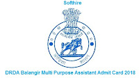 DRDA Balangir Multi Purpose Assistant Admit Card