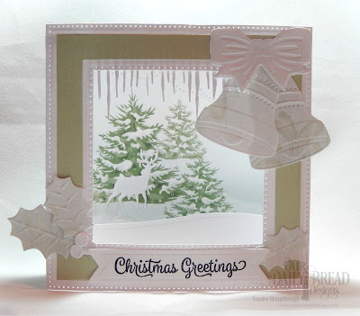 Our Daily Bread Designs Stamp Set: Christmas Card Verses, Custom Dies: Christmas Bells, Diorama with Layers, Icicle Border, Cloud Borders, Pennant Flags, Bethlehem,  Paper Collection: Christmas 2018