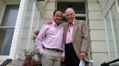 George Montague and his husband Somchai Pukkhlai (left)