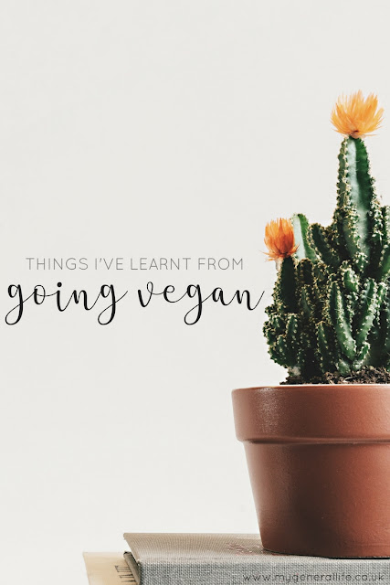 Today I'm sharing some musings on what I've learnt since switching to a vegan lifestyle. Come on over to find out more!
