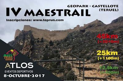 geopark maestrail trail geoparque maestrazgo octubre castellote teruel