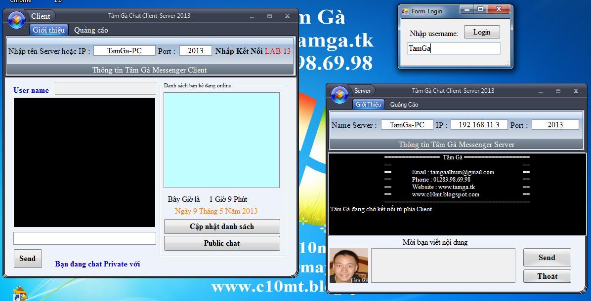 lập trình mạng Windows Form