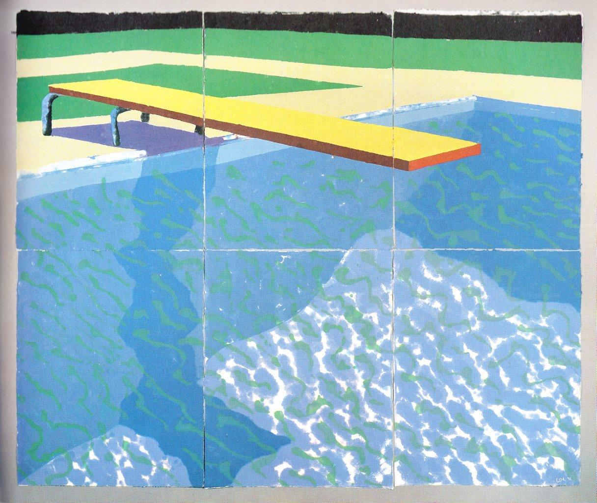 Drawing Swimming Pools : Western independent david hockney at the ra