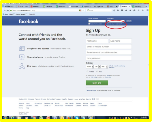 Facebook Sign in Facebook login