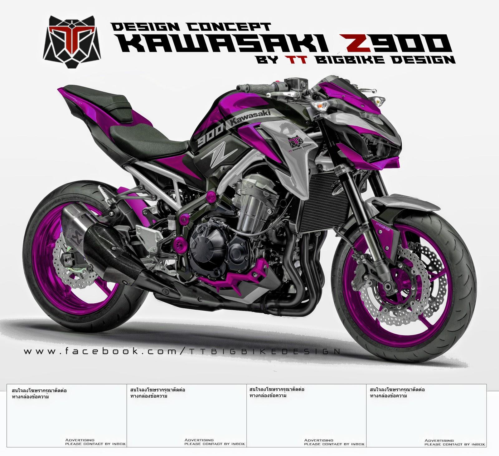 Tt Bigbike Design Kawasaki Z900 Design Concept 1