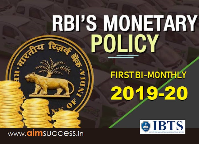 RBI First Bi-Monthly Monetary Policy 2019-20