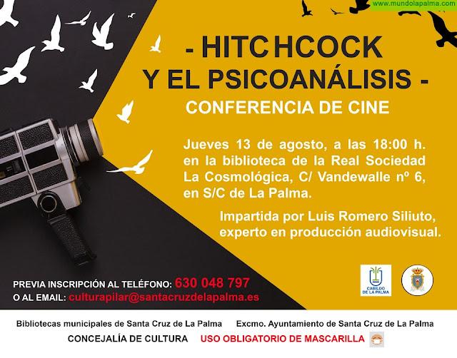 Cultura de Santa Cruz de La Palma organiza una conferencia sobre la trayectoria y la personalidad de Alfred Hitchcock