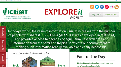 Big Data Beyond EXPLOREit@ICRISAT | Creative Thinkering @