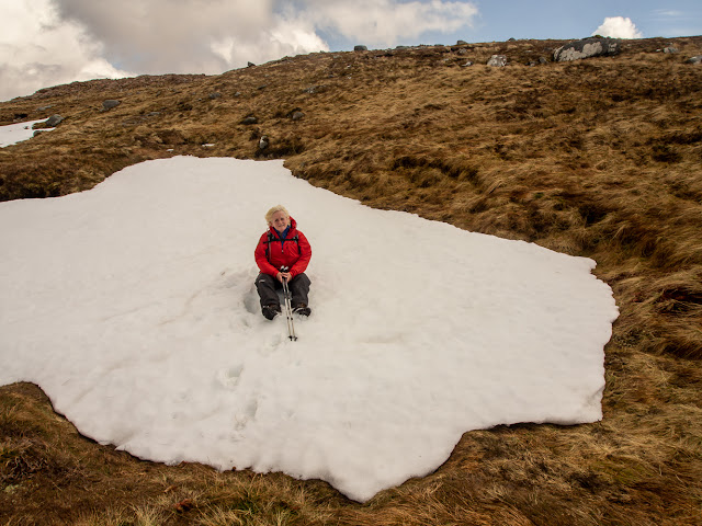 Photo of a wider view showing the size of the snow patch