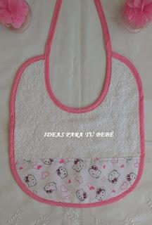 Babero Hello Kitty para bebe