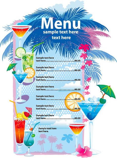 plantilla para menú de restaurante de bebidas