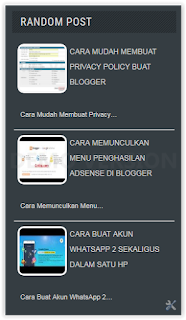 Cara Membuat Widget Random Post Di Blogger