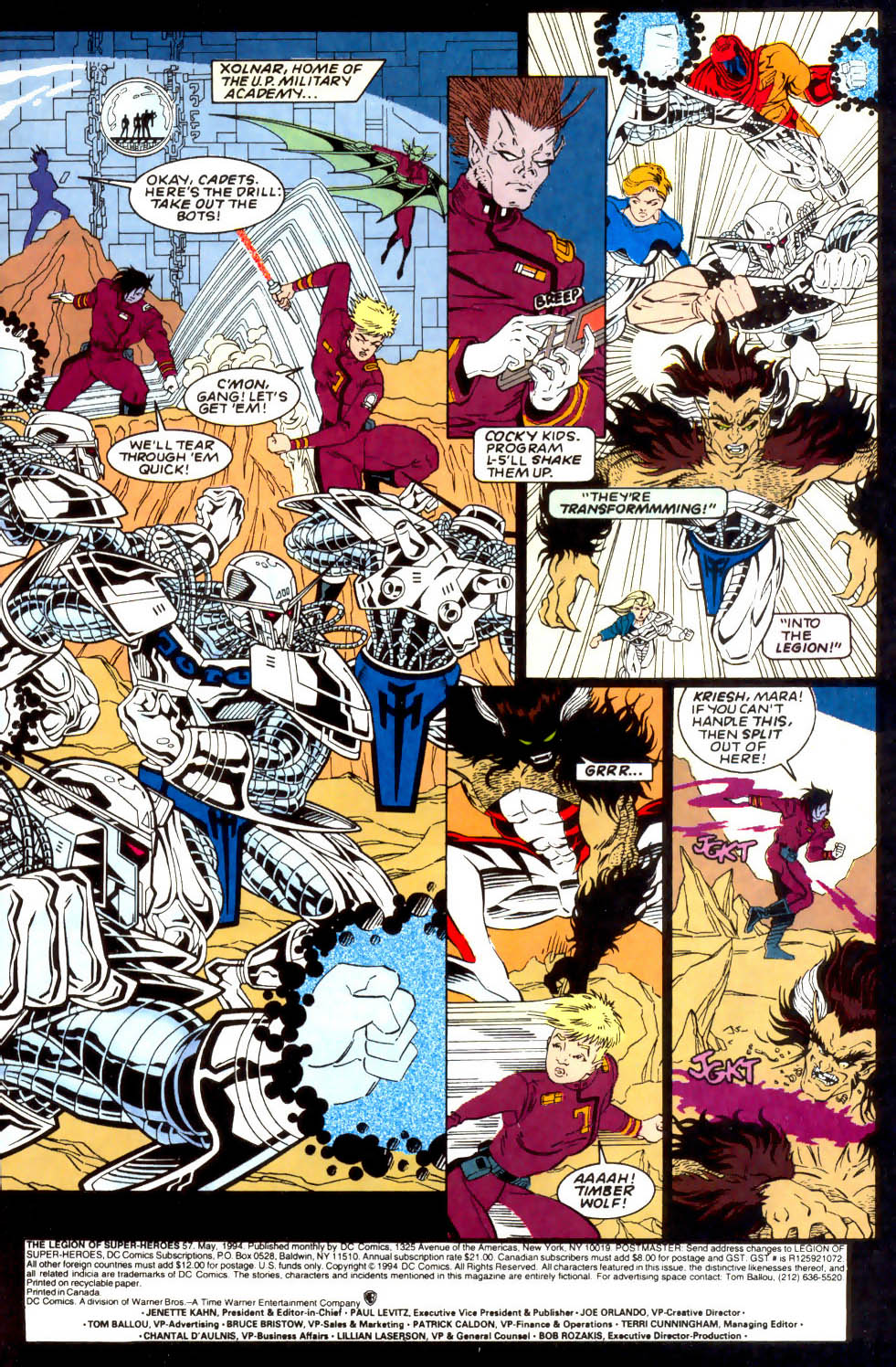 Legion of Super-Heroes (1989) 57 Page 1