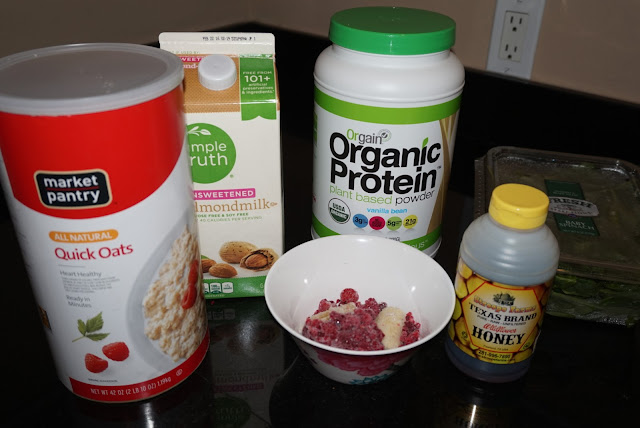Ingredients for a protein smoothie for women