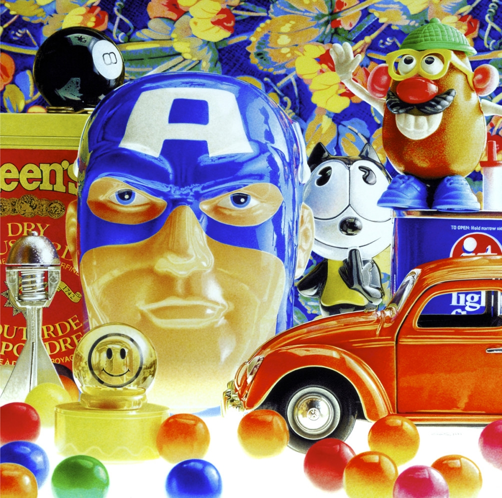 11-Captain-America-Mr-Potato-Head-Felix-the-Cat-François-Chartier-Oil-on-Canvas-Hyper-Realistic-Paintings-www-designstack-co